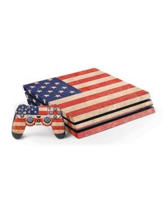 Distressed American Flag PS4 Pro Bundle Skin