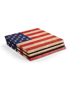 Distressed American Flag PS4 Pro Console Skin