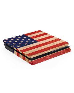 Distressed American Flag PS4 Slim Skin