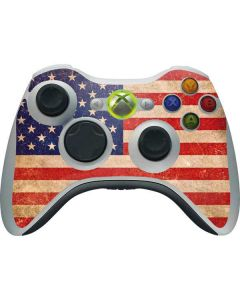 Distressed American Flag Xbox 360 Wireless Controller Skin