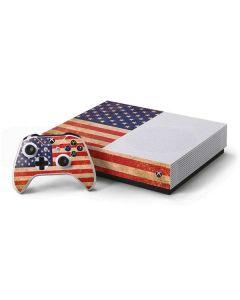 Distressed American Flag Xbox One S All-Digital Edition Bundle Skin