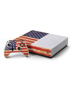 Distressed American Flag Xbox One S Console and Controller Bundle Skin