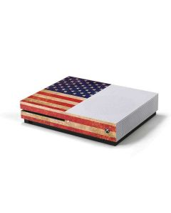 Distressed American Flag Xbox One S Console Skin