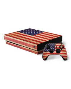 Distressed American Flag Xbox One X Bundle Skin