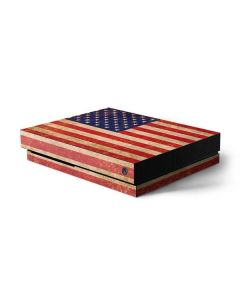 Distressed American Flag Xbox One X Console Skin