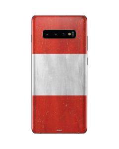 Distressed Austria Flag Galaxy S10 Plus Skin