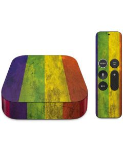 Distressed Rainbow Flag Apple TV Skin