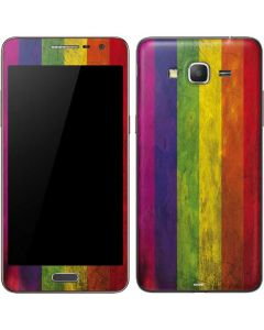 Distressed Rainbow Flag Galaxy Grand Prime Skin