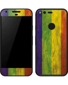 Distressed Rainbow Flag Google Pixel Skin