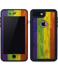 Distressed Rainbow Flag iPhone 8 Plus Waterproof Case
