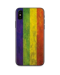 Distressed Rainbow Flag iPhone X Skin