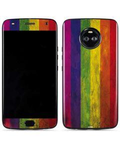 Distressed Rainbow Flag Moto X4 Skin