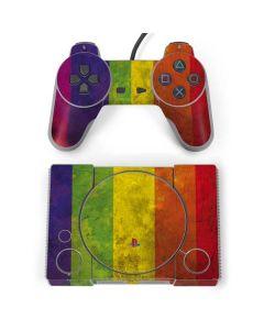 Distressed Rainbow Flag PlayStation Classic Bundle Skin
