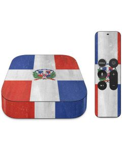 Dominican Republic Flag Distressed Apple TV Skin