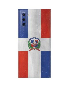 Dominican Republic Flag Distressed Galaxy Note 10 Skin