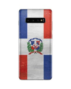 Dominican Republic Flag Distressed Galaxy S10 Plus Skin