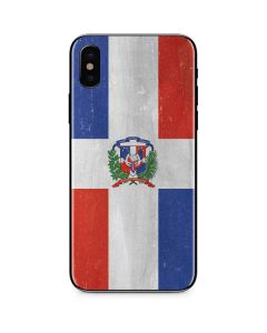 Dominican Republic Flag Distressed iPhone XS Skin