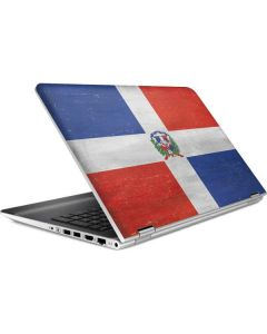 Dominican Republic Flag Distressed HP Pavilion Skin