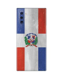 Dominican Republic Flag Faded Galaxy Note 10 Skin