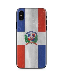 Dominican Republic Flag Faded iPhone XS Skin
