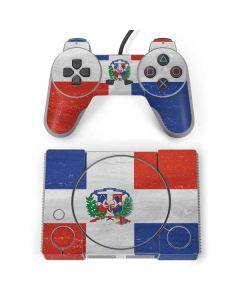 Dominican Republic Flag Faded PlayStation Classic Bundle Skin