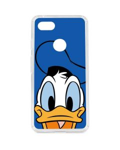 Donald Duck Up Close Google Pixel 3 XL Clear Case