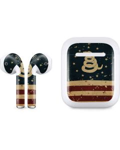 Dont Tread On Me American Flag Apple AirPods Skin
