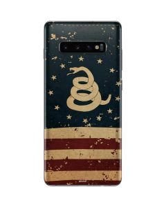 Dont Tread On Me American Flag Galaxy S10 Plus Skin