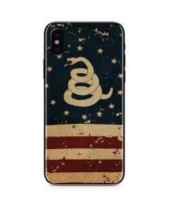 Dont Tread On Me American Flag iPhone XS Max Skin