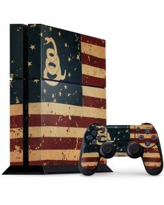 Dont Tread On Me American Flag PS4 Console and Controller Bundle Skin