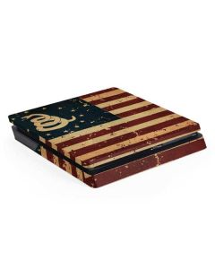 Dont Tread On Me American Flag PS4 Slim Skin