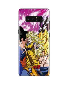 Dragon Ball Z Goku Forms Galaxy Note 8 Skin
