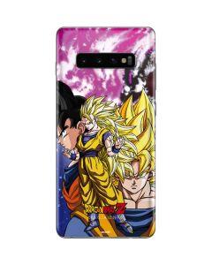 Dragon Ball Z Goku Forms Galaxy S10 Plus Skin