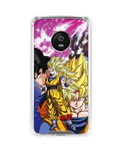 Dragon Ball Z Goku Forms Moto G5 Plus Clear Case