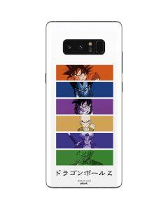 Dragon Ball Z Monochrome Galaxy Note 8 Skin