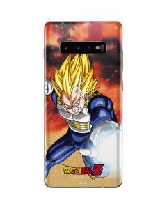 Dragon Ball Z Vegeta Galaxy S10 Plus Skin
