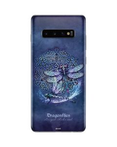 Dragonfly Celtic Knot Galaxy S10 Plus Skin