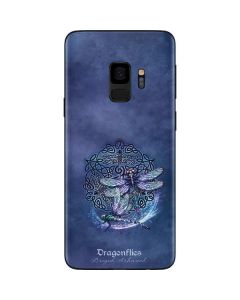 Dragonfly Celtic Knot Galaxy S9 Skin