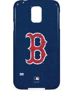 Boston Red Sox - Solid Distressed Galaxy S5 Lite Case