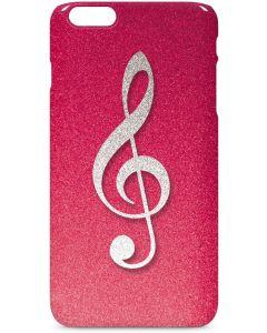 Pink Glitter Music Note iPhone 6/6s Plus Lite Case