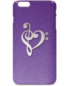 Purple Glitter Musical Heart iPhone 6/6s Plus Lite Case
