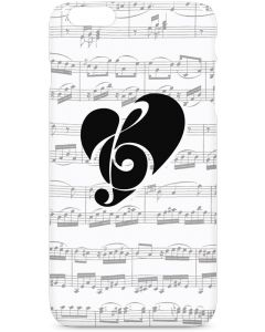 BW Musical Notes iPhone 6/6s Plus Lite Case