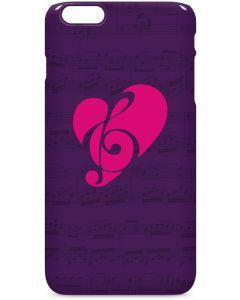 Purple Musical Notes iPhone 6/6s Plus Lite Case