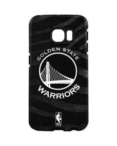 Golden State Warriors Black Animal Print Galaxy S7 Edge Pro Case
