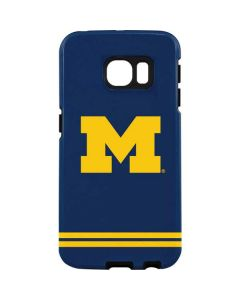 Michigan Logo Striped Galaxy S7 Edge Pro Case