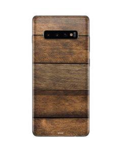 Early American Wood Planks Galaxy S10 Plus Skin