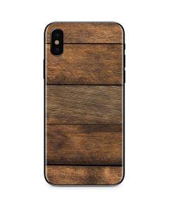 Early American Wood Planks iPhone X Skin