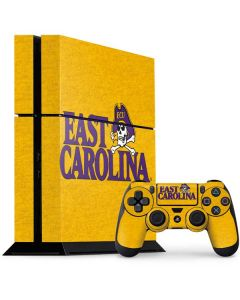 East Carolina Yellow PS4 Console and Controller Bundle Skin