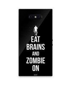 Eat Brains and Zombie On Black Razer Phone 2 Skin
