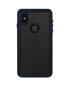 Ebony Wood iPhone X Waterproof Case